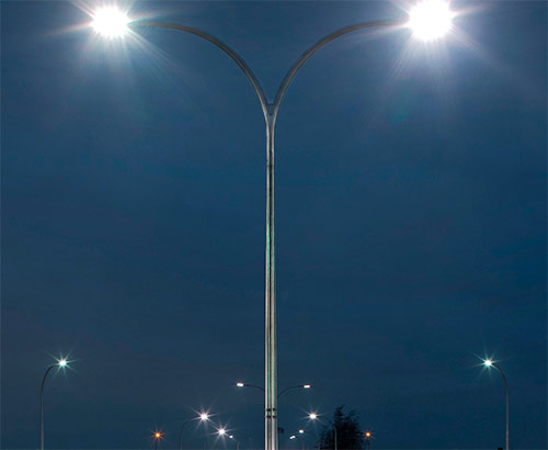 Street Square LED Lamp Lens 6 In 1 Type 3 Beam Angle With 4 Pcs 3030 LED