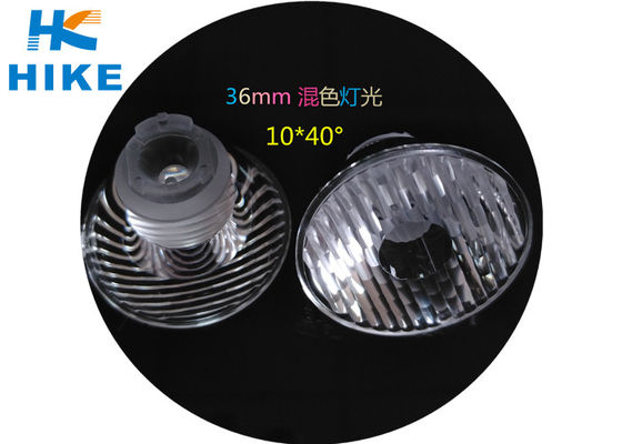 China Optical Plastic Injection LED Lamp Lens 36mm 10 X 40 Degree For Stage Lighting distributor